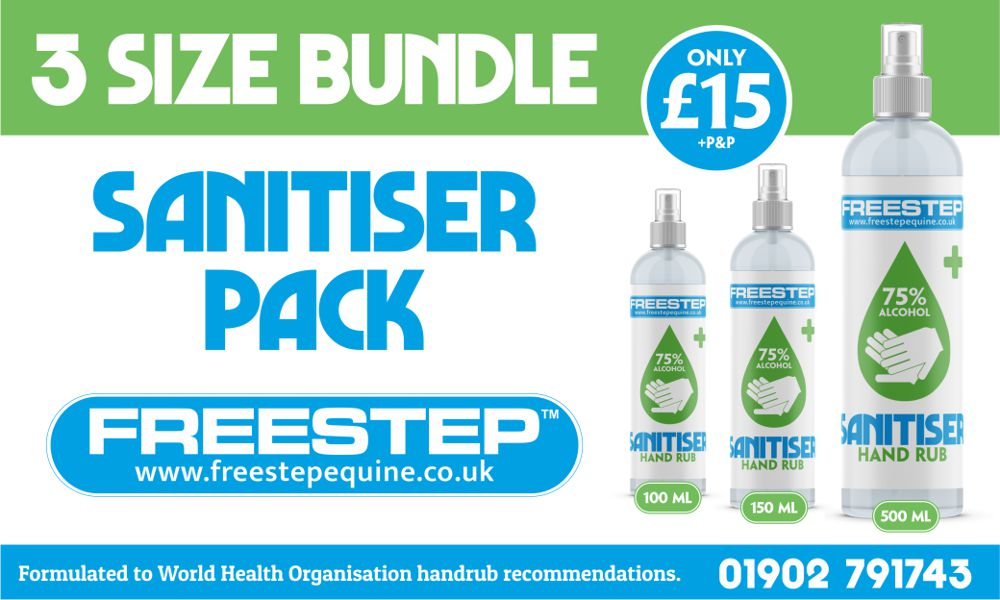 FreeStep Sanitizer 3 Size Bundle (£15)