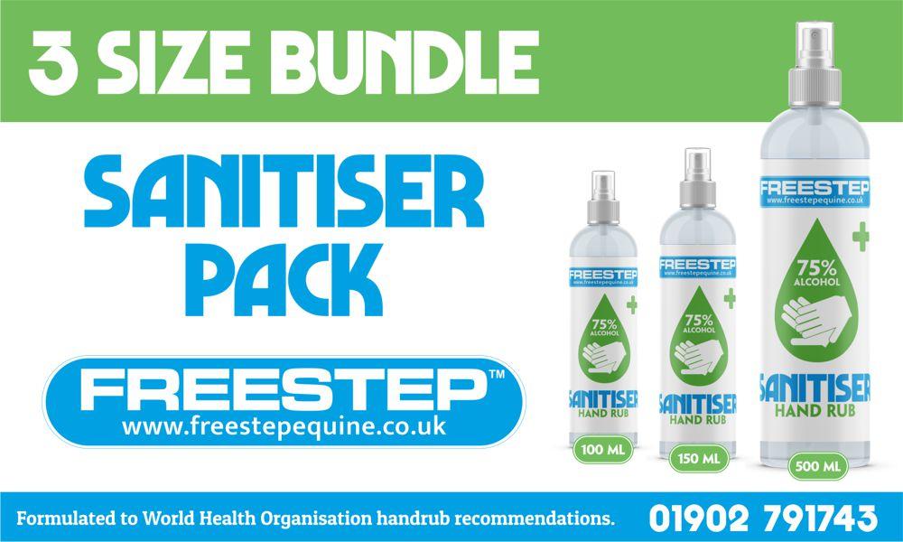 Sanitiser 3 size bundle