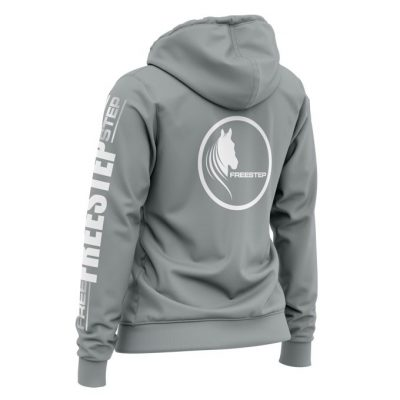 Zipped Hoody Charcoal Back